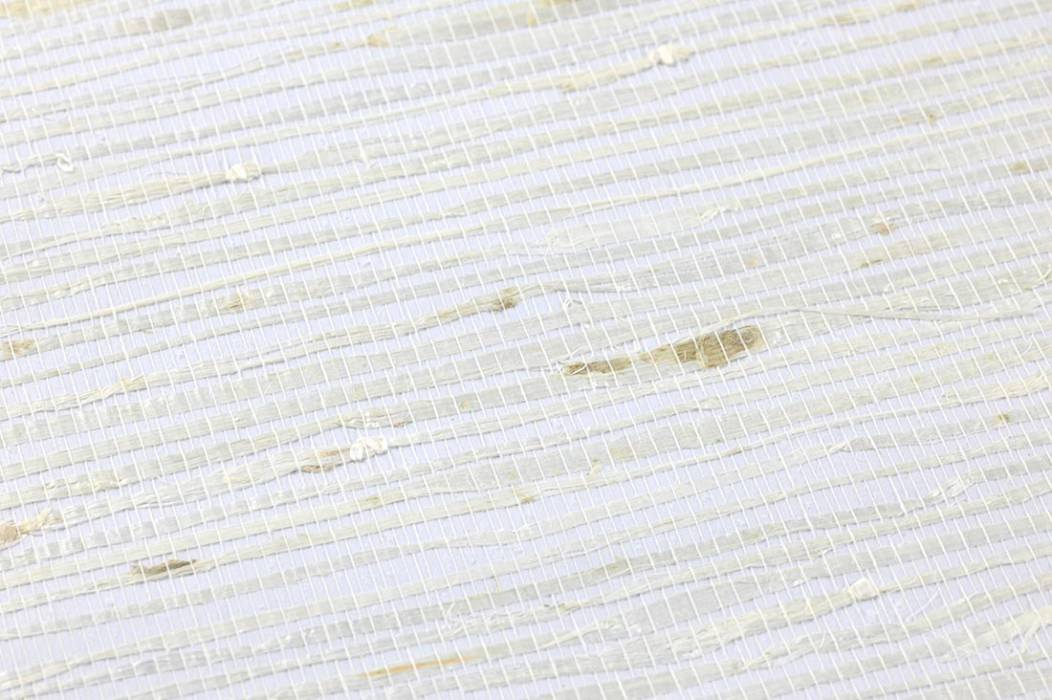 Wallpaper Grasscloth 03 Matt Solid colour Cream White