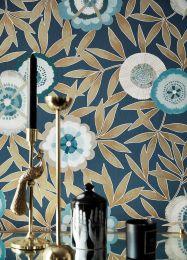 Papel pintado Sefina azul grisáceo