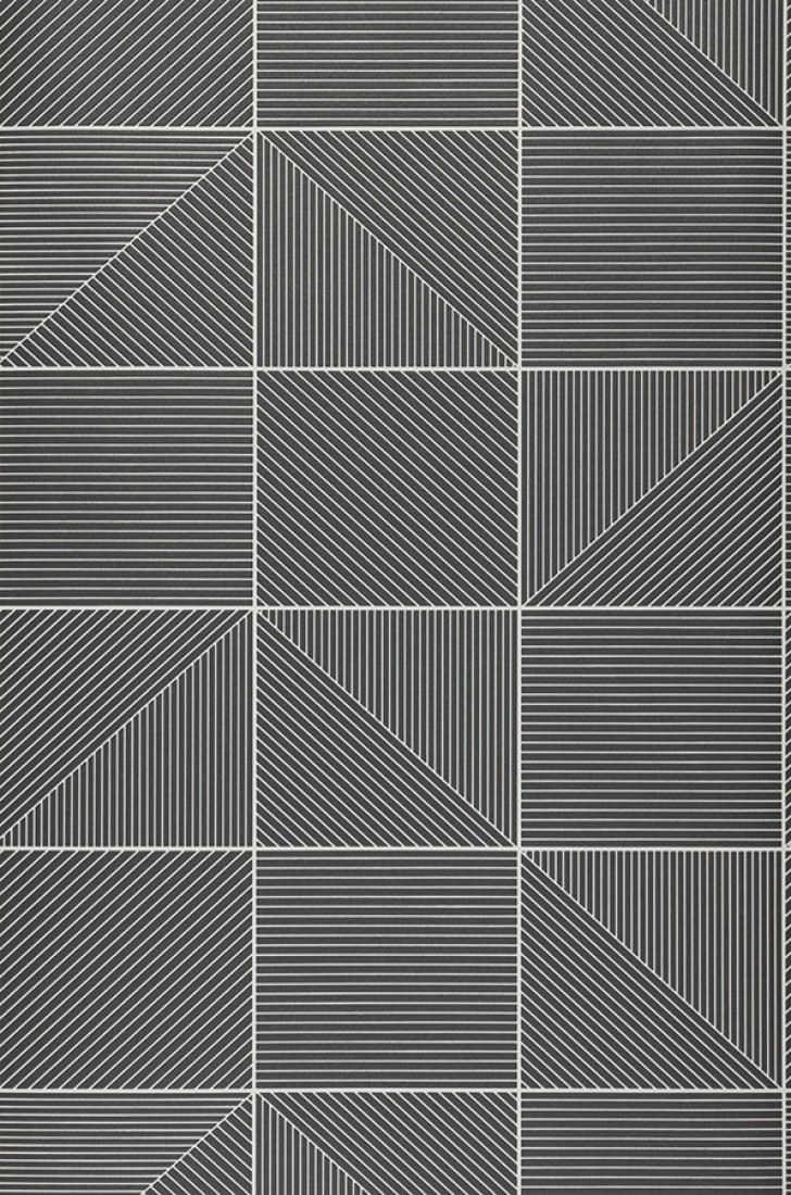 papier peint covin blanc cr me gris anthracite papier. Black Bedroom Furniture Sets. Home Design Ideas