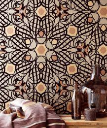 Papel de parede Nilus marrom chocolate