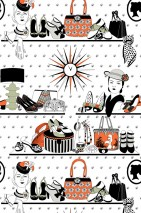 Wallpaper Accessories Matt Handbags Hats Jewellery Shoes Scarves White Light grey Red orange Reed green Black