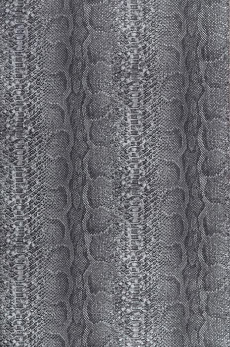 Wallpaper Anaconda Matt Imitation leather Dark grey Light grey Silver grey