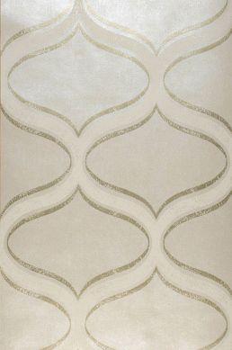 Wallpaper Hulda cream shimmer Roll Width