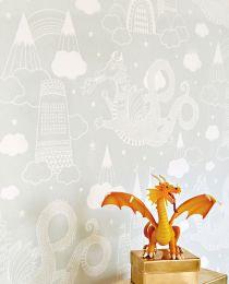 Papel de parede Drakhimlen cinza claro