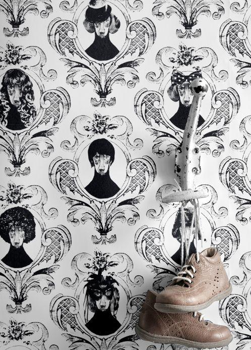 Papel pintado Lisa Bengtsson Papel pintado Tillsammans negro Ver habitación