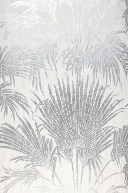Papel de parede Lorella prata brilhante Largura do rolo