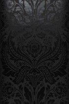 Wallpaper Manus Shimmering pattern Matt base surface Floral damask Anthracite Black shimmer