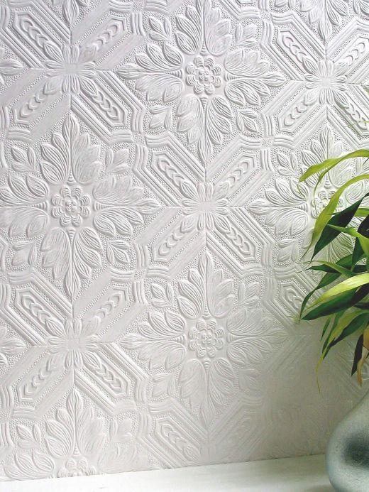 Papel de parede clássico Papel de parede Howard branco Ver quarto