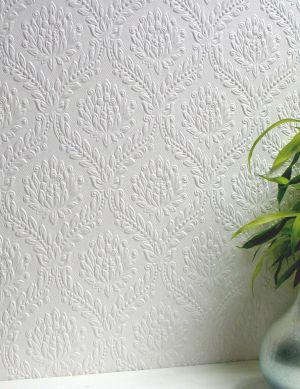 Papel pintado Dryden blanco Ver habitación