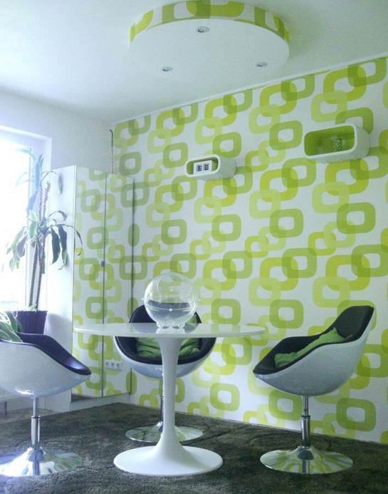 Archiv Wallpaper Haumea yellow green Room View