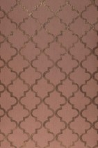 Wallpaper Casalar Matt Oriental damask Rosewood Matt gold Sepia brown