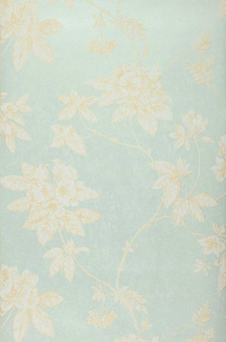 Archiv Wallpaper Tacita pastel turquoise Roll Width