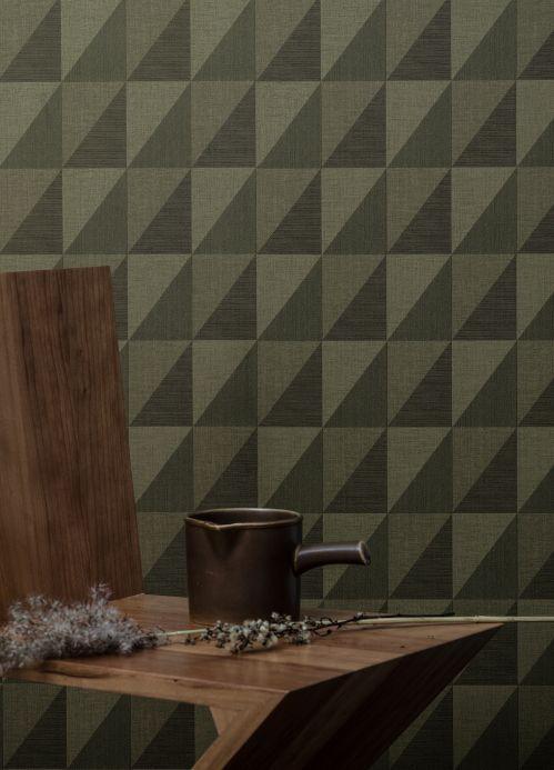 Geometric Wallpaper Wallpaper Alwara dark green Room View