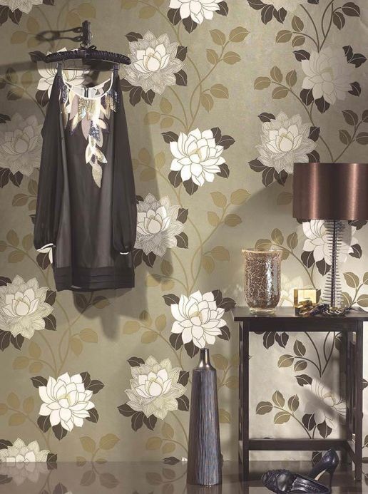 Archiv Wallpaper Ismene brown Room View