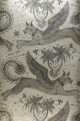 Papier peint Lynx beige nacré Bahnbreite