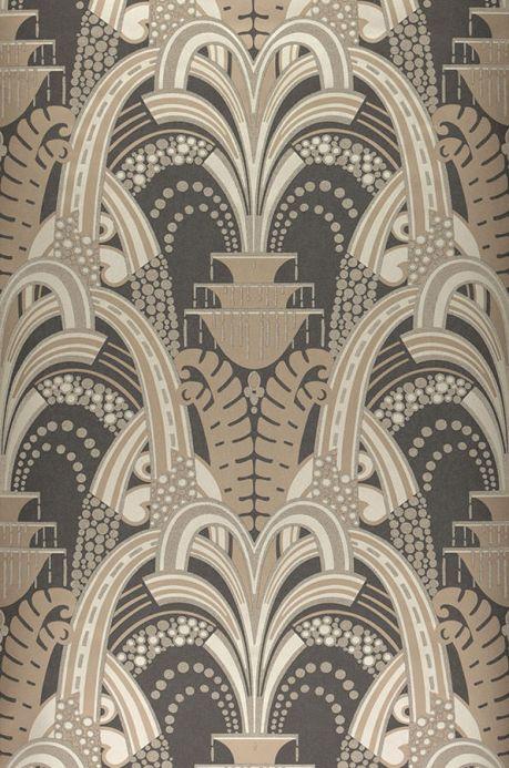 Archiv Papel pintado Kisum marrón grisáceo pálido Ancho rollo
