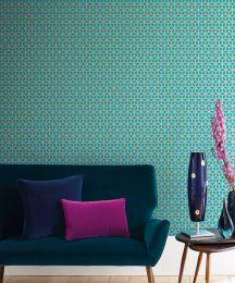 Wallpaper Zelor turquoise blue
