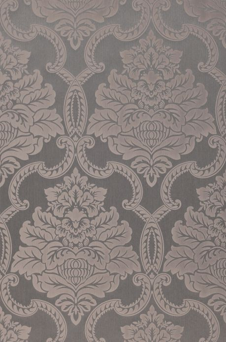 Papier peint design Papier peint Amalia gris beige Largeur de lé