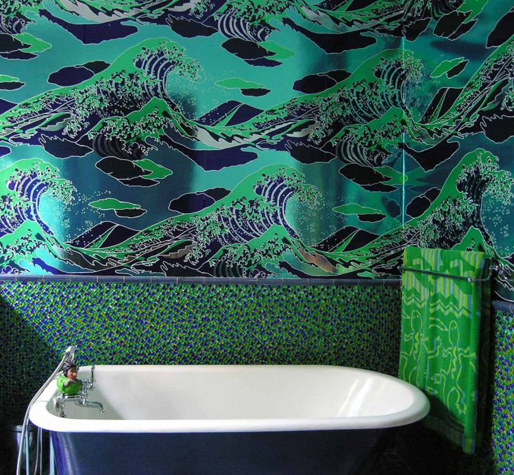 Flavor Paper Wallpaper Wallpaper Onda green Room View