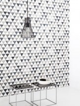 Wallpaper Masell Matt Triangles Cream Grey tones