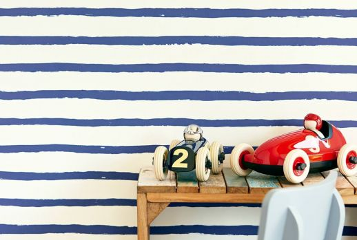 Wallpaper Kati violet blue Room View