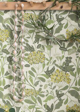 Papel de parede Flowery tons de verde Raumansicht