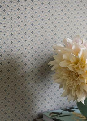 Papier peint Tulsi gris silex Raumansicht