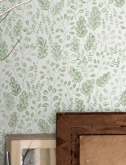 Botanical Wallpaper Wallpaper Rosina green Room View
