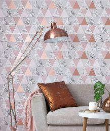 Wallpaper Zento pearlescent rosewood