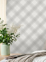 Wallpaper Redon Matt Plaid Grey tones