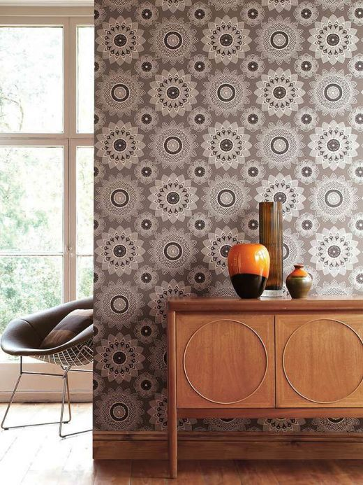 Archiv Wallpaper Poseidon brown grey Room View
