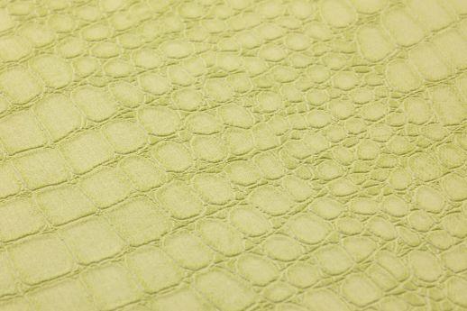 Papel pintado Caiman verde amarillento claro Ver detalle