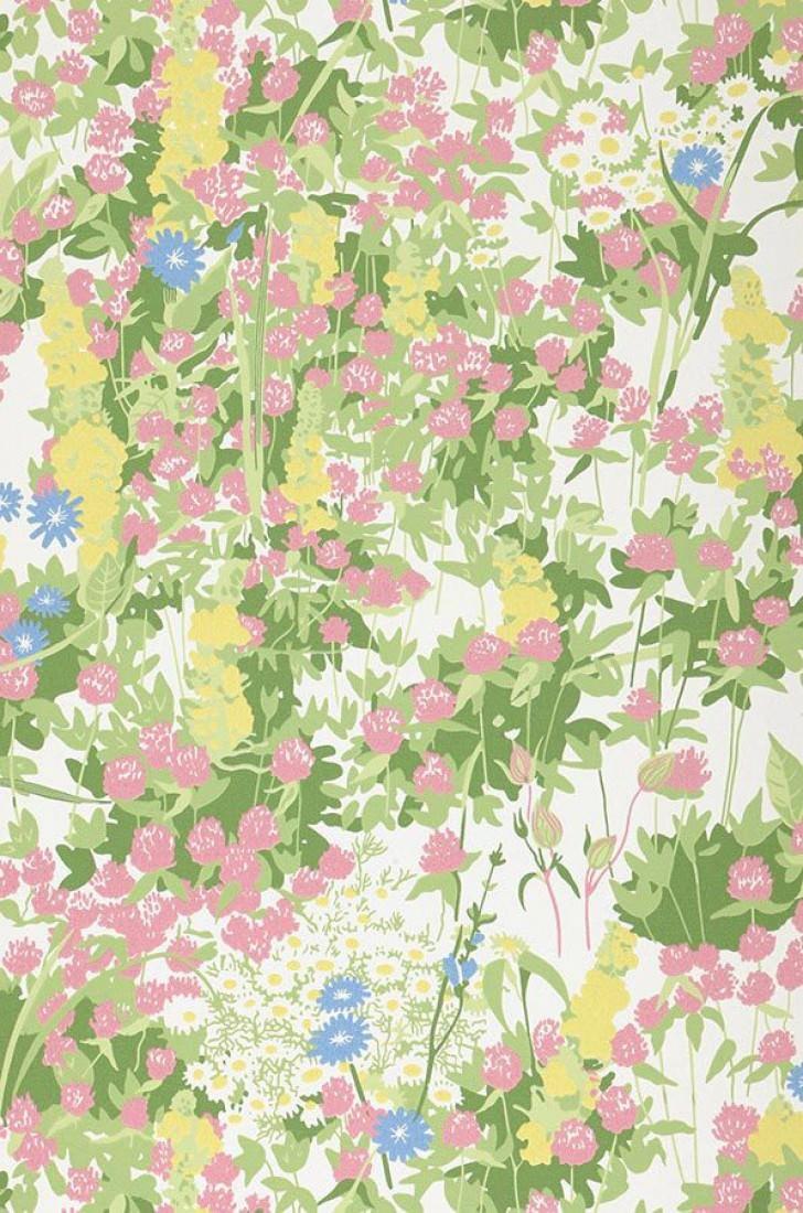 freya cremeweiss blassblau blasserikaviolett blassgelb gr n florale tapeten. Black Bedroom Furniture Sets. Home Design Ideas