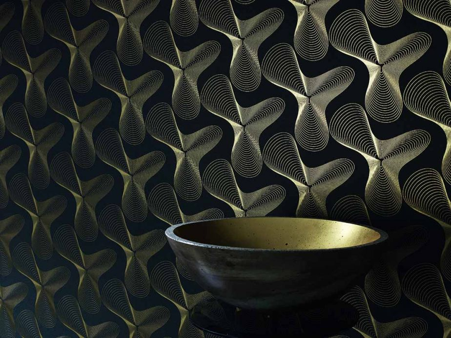 Modern Wallpaper Wallpaper Verve gold Room View