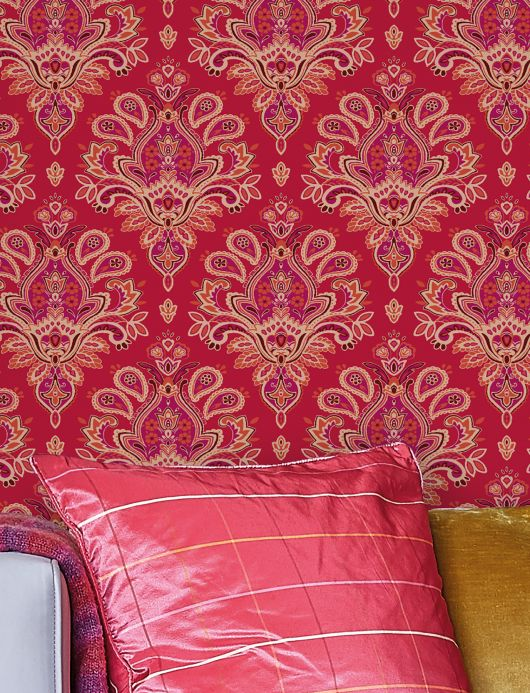 Archiv Wallpaper Adeline red Room View