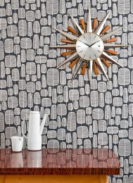 Wallpaper Little Trees anthracite grey