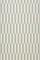 Papier peint Arch Mat Éléments graphiques Blanc crème Gris vert