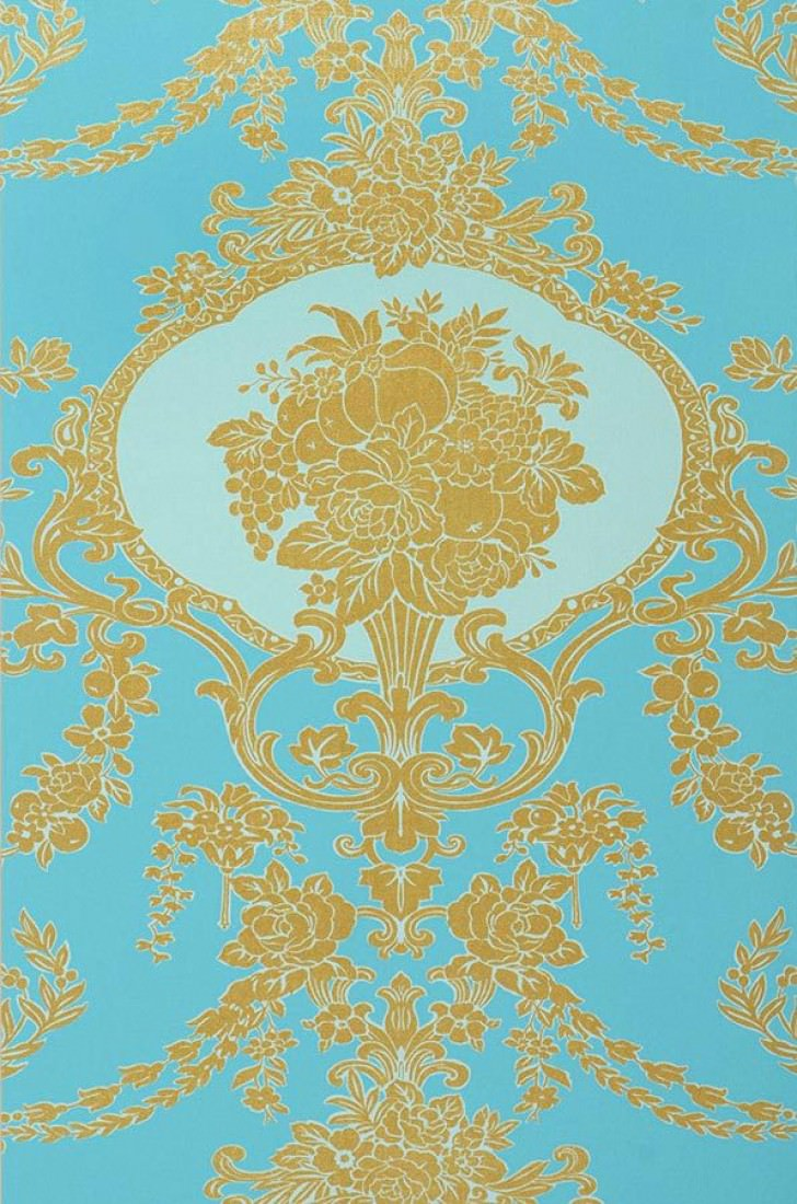 karima t rkis gold pastellt rkis barock tapeten. Black Bedroom Furniture Sets. Home Design Ideas