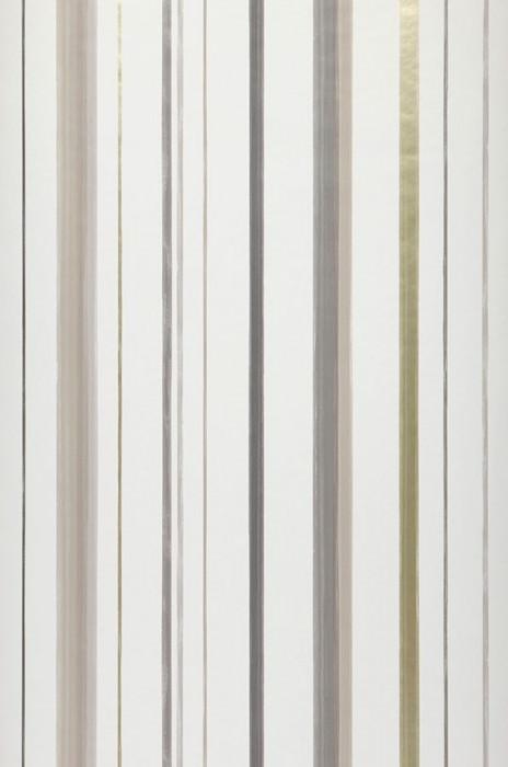 Wallpaper Dordon Matt Stripes White Gold shimmer Grey Grey beige