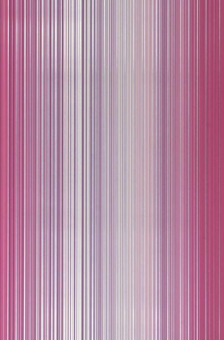 Papier peint Owen Chatoyant Rayures Blanc crème Violet bruyère Argenté lustre Violet