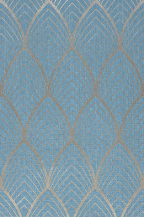 Räume Tapete Soana Hellblau A4-Ausschnitt