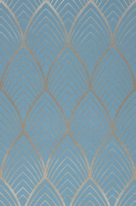 Classic Wallpaper Wallpaper Soana light blue A4 Detail