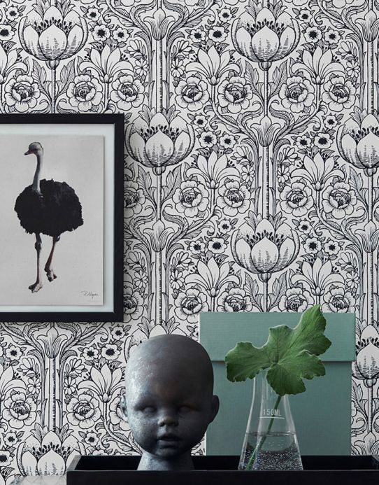 Archiv Papel de parede Dorothea preto Ver quarto