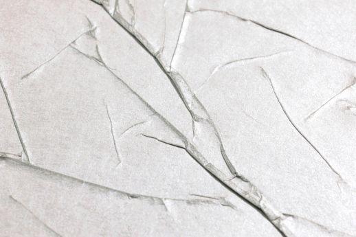Papel de parede Crush Wilderness 01 aluminio branco Detailansicht