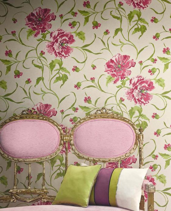 Archiv Wallpaper Sedna heather violet Room View
