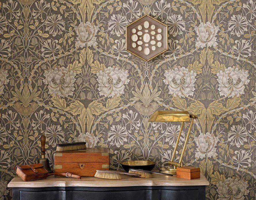 Wallpaper Wallpaper Penelope pearl gold Room View