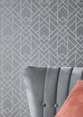 Papel de parede Baya aluminio branco Ver quarto