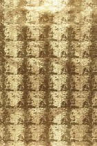 Wallpaper Rio Crocodillo Metallic effect Imitation leather Waves Brown Gold lustre