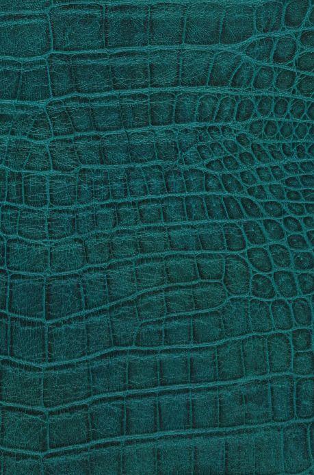 Lederoptik Tapeten Tapete Reptile 02 Opalgrün A4-Ausschnitt
