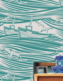 Wallpaper Ulysses turquoise green